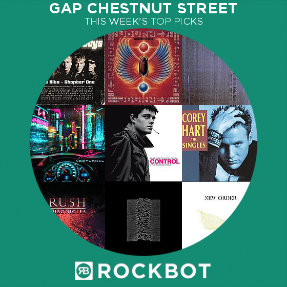 Top Rockbot Song Picks at Gap Chestnut Street