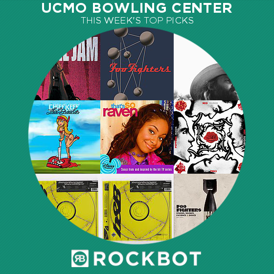 Top Rockbot Song Picks at UCMO Bowling Center