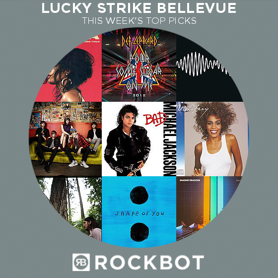 Top Rockbot Song Picks at Lucky Strike Bellevue
